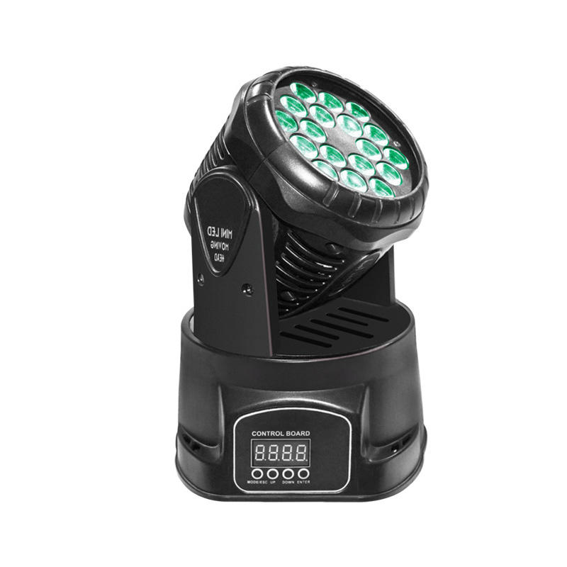 Led Wash Lights 183 Mini (18) 3W RGB 3-In-1 LED Wash DJ Light
