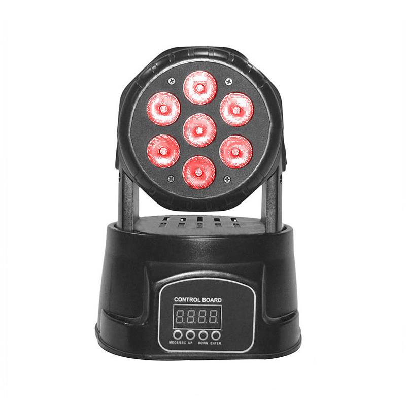 Moving Head Wash LED_M WASH 708 mini 7pcs 8W RGBW 4-in-1 QUAD LED wash dj lighting