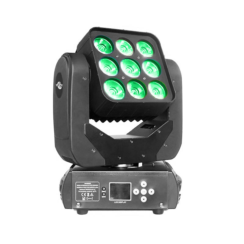 Wash Moving Head Light Mars 915 9pcs 15w Rgbw Quad Led