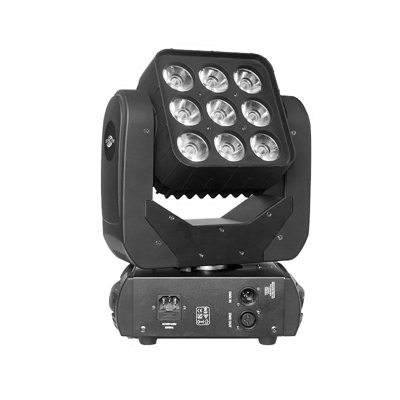 Moving Head Wash LED_MARS 915 9pcs 15W RGBW QUAD LED wash matrix stage lighting