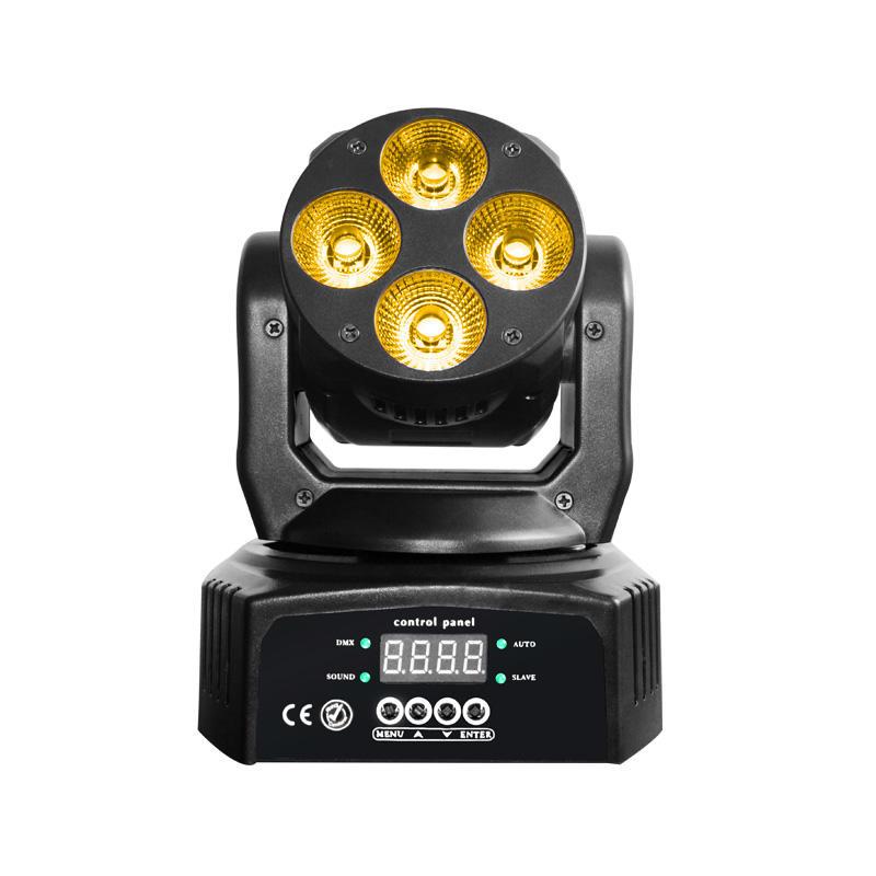 Mini Moving Head Wash LED_M WASH 406  4pcs of 10W RGBWA+UV  6in1 LED mini wash light