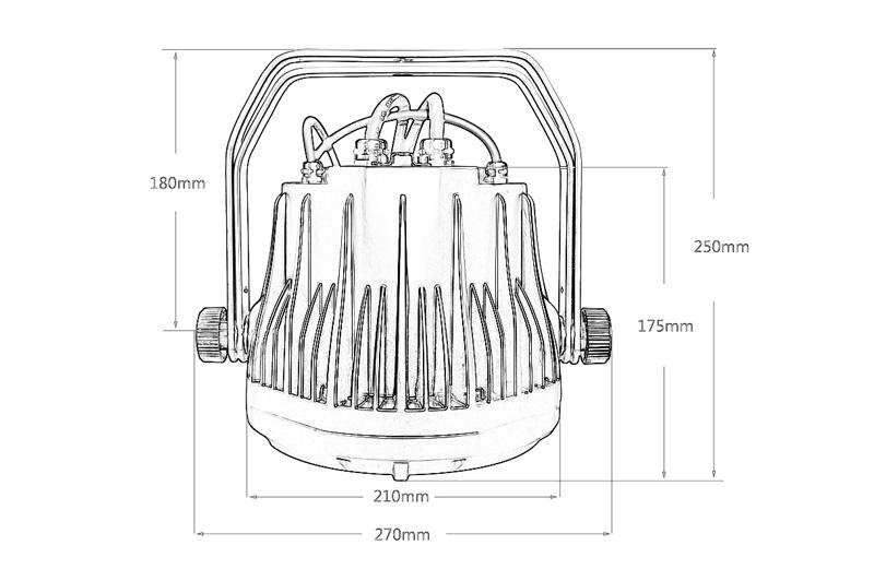 STSLITE compact size led par uplights 188ip for show-5