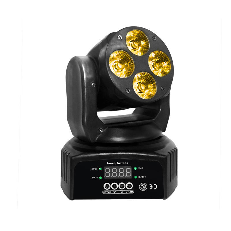 Moving Head Wash LED_M WASH 406  4pcs Of 10W RGBWA+UV