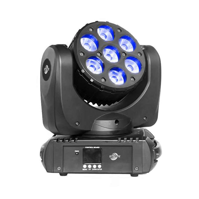 Led Wash Lights MARS 715 7pcs 15W RGBW QUAD LED