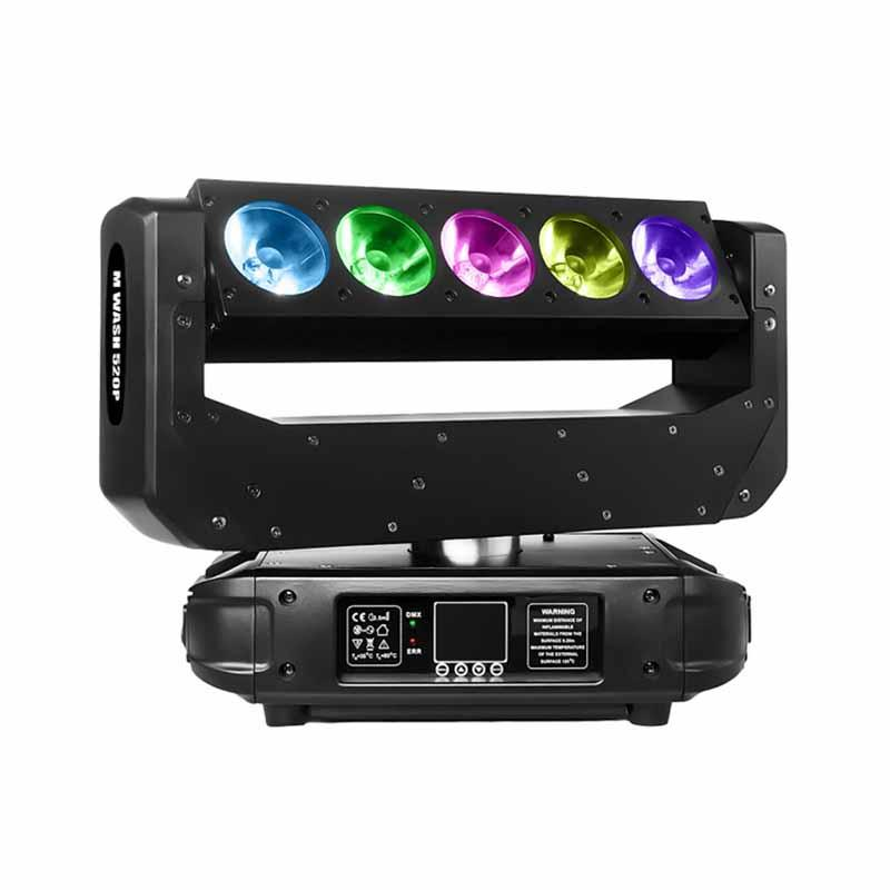 Moving Head Wash LED_M WASH 520P 5pcs 20W RGBW 4-in-1 LED Pixel Bar Wash Beam Lighting