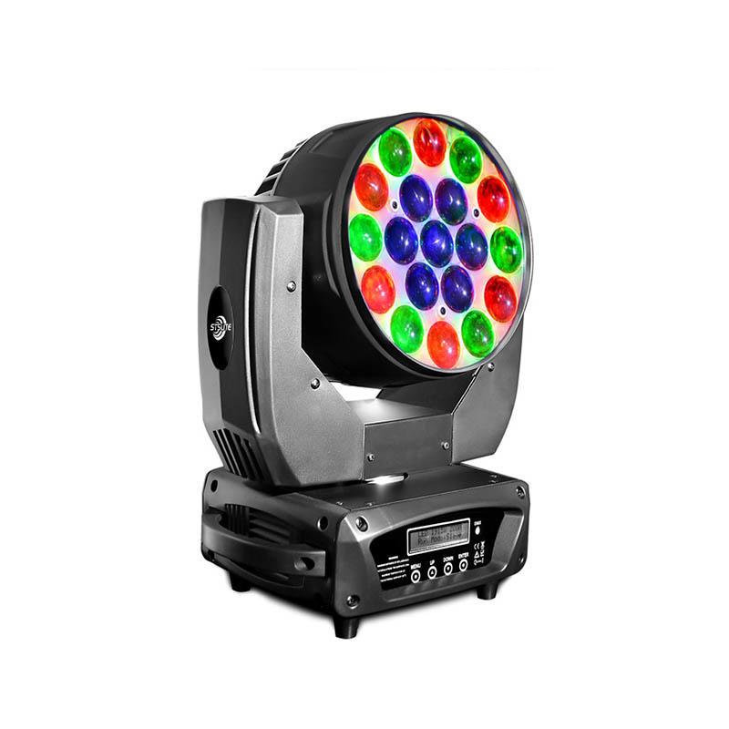 Moving Head Wash LED_M WASH 1915Z 19pcs 15W RGBW 4-in-1 LED Zoom Wash show lighting